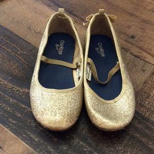 👟 Glittery gold flats sz 12